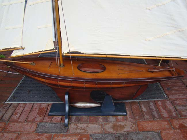 click to view larger image of A fine large vintage plank-on-frame Pond Boat